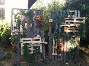 Vertical Pallet Garden Panels