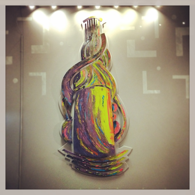 """Heady Pieces"" Instilation, Wood and Acrylic. Permanent @ Fremont Piece of Mind"